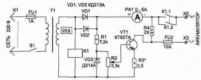 Простой регулятор тока 10 а для зарядного устройства своими руками