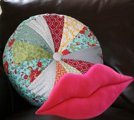 Декоративная подушка круглая своими руками 168