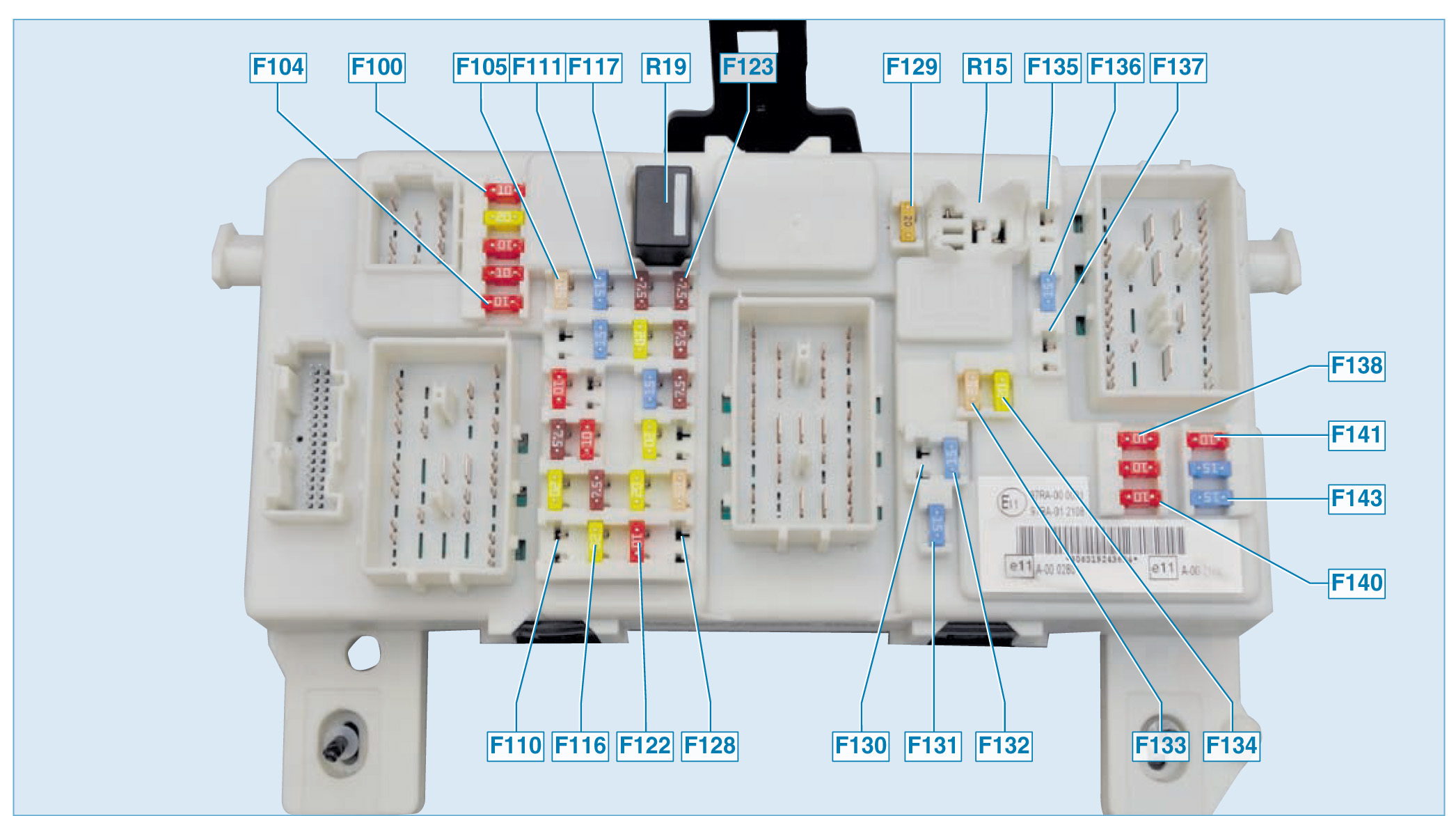 Предохранители на форд фокус 2 схема