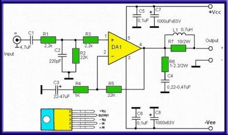 Схема УНЧ TDA2030