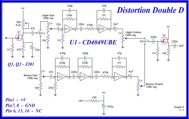 cd4049ube схема включения