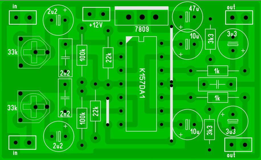 Схема стрелочного индикатора уровня сигнала на К157ДА1.