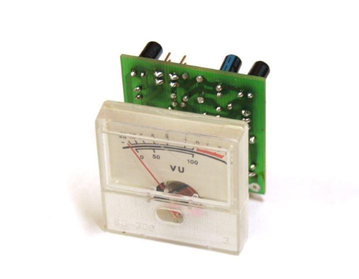 Схема стрелочного индикатора уровня сигнала с подсветкой