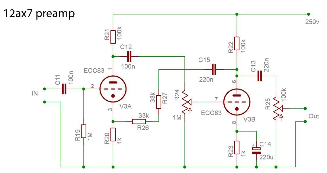 Схема лампового предварительного усилителя фото 34