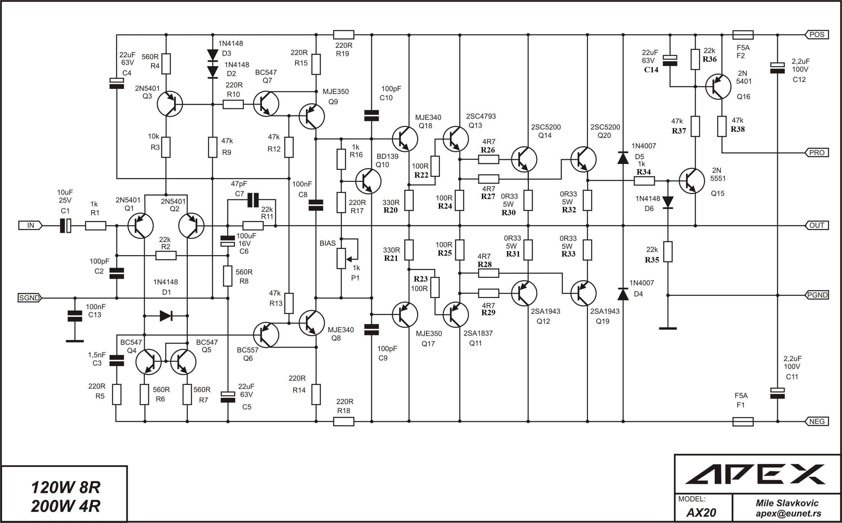Eurosound в 1200a схема