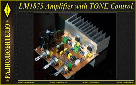 LM1875 Amplifier with Tone Control and PSU
