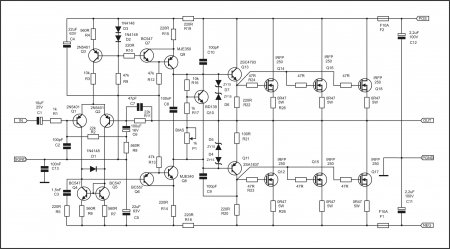 APEX NX400 Amplifier schematic