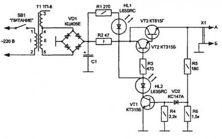 Зарядное устройство для сотовых телефонов (автомат)