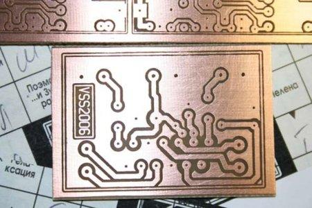 Лазерно-утюговая технология изготовления печатных плат.