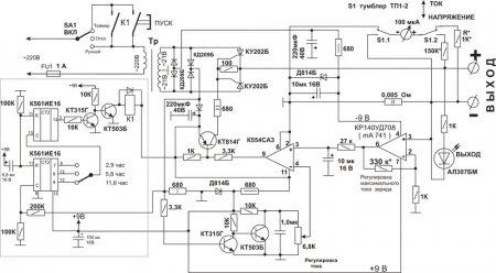 ЗУ для автомобильных аккумуляторов на тиристорах