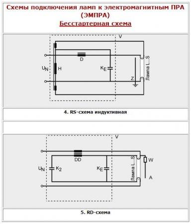 Схемы подключения ламп OSRAM