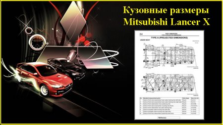 Кузовные размеры Mitsubishi Lancer X