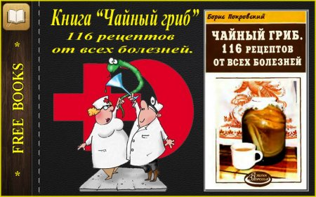 """Книга """"Чайный гриб. 116 рецептов от всех болезней""""."""