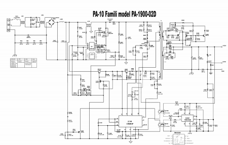схема блока питания DELL PA-1900-02 SMPS ADAPTÖR 19.5V 4.62A