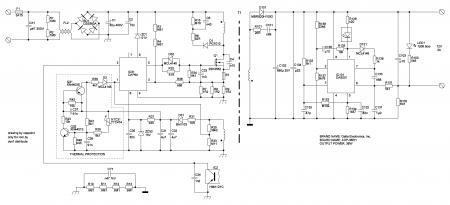 Принципиальная схема БП АDР-36ЕН 12V 3A