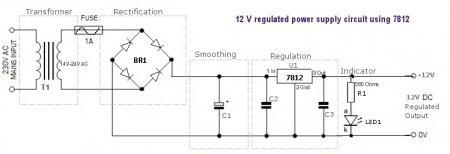 Стабилизатор 12 вольт на МС 7812