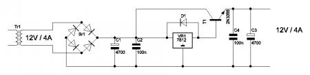 Стабилизатор на МС 7812_2N3055