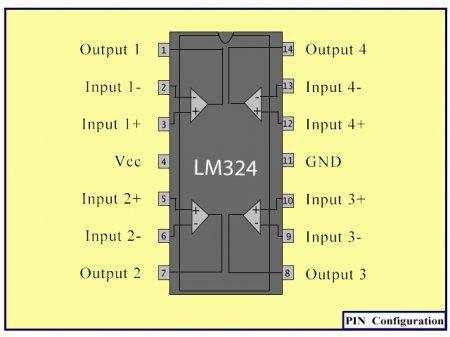 LM324_расположение выводов