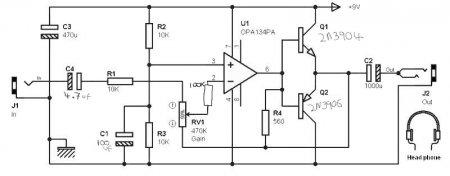 OPA134PA-усилитель для наушников 2