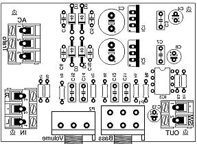 Расположение элементов на плате НЧ-фильтра на NE5532 _ 2