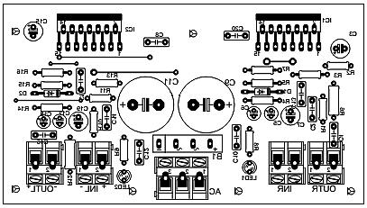 Плата усилителя TDA7293_сторона элементов 01