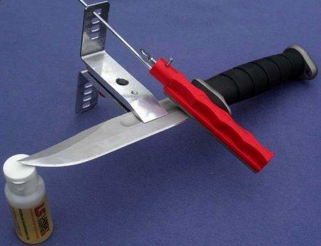 Заточка ножа станком LANSKY