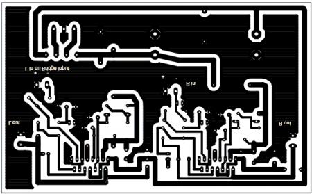 Печатная плата усилителя на TDA7294
