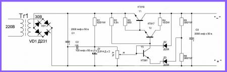 Блок питания 0-30 вольт схема