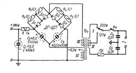 Блок питания лампового УНЧ на 6П14П
