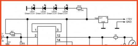 Подключение светодиодов подсветки индикатора