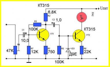 Индикатор уровня сигнала_аналоговый