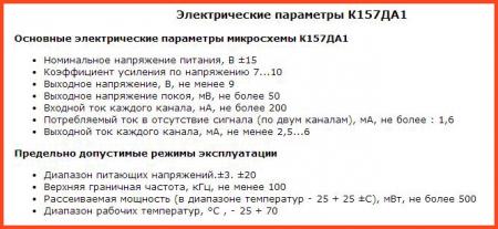 Параметры К157ДА1