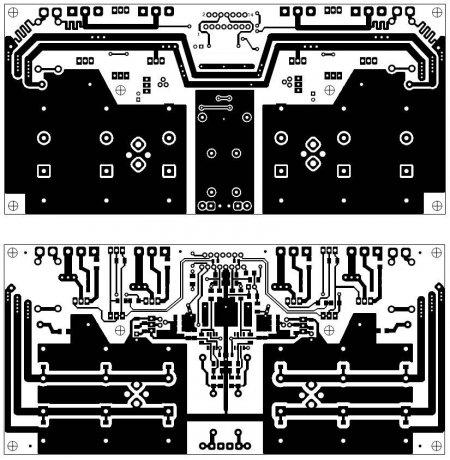 Печатная плата усилителя на LM4702
