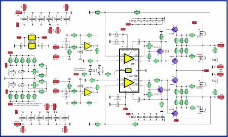 Схема усилителя на LM4702_LME49710