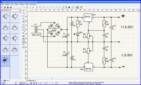 Интерфейс программы sPlan 7