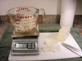 Взвешивание мыльной основы