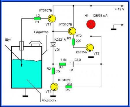 Датчик уровня ОЖ_схема 1