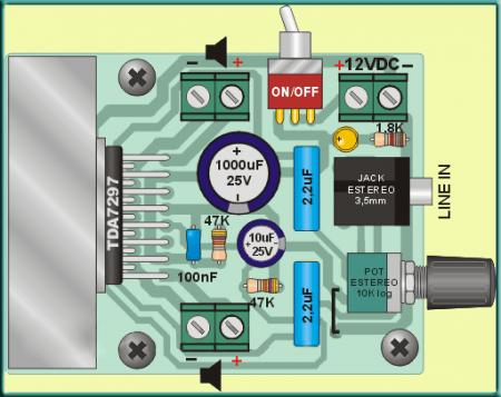 Подключение усилителя на TDA7297