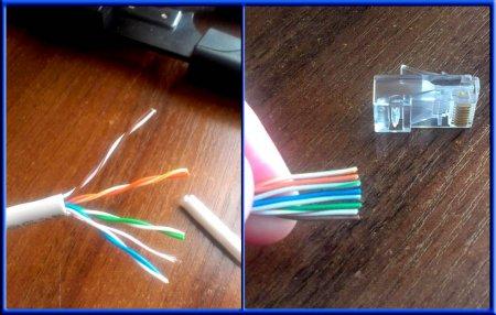 Подготовка сетевого кабеля к опрессовке разъемов