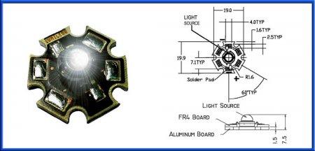 Luxeon Led 3W star lb WS LXHL-LW3C
