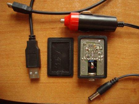 Схема адаптера для заряда телефона от прикуривателя авто на MC34063.