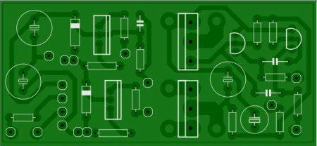 Печатная плата зарядного устройства_сторона элементов
