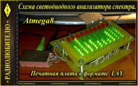 Анализатор спектра на микроконтроллере Atmega8