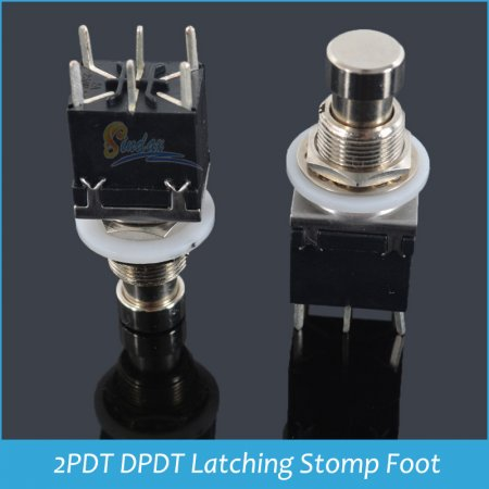 Кнопка для педали-DPDT-Latching-Stomp-Foot-6pin