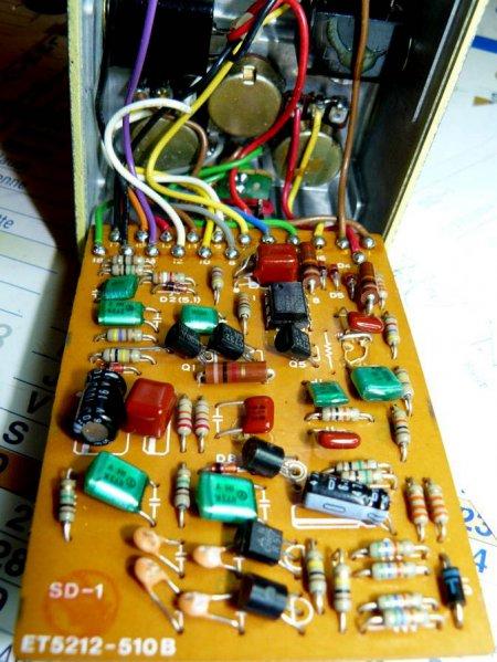 Примочка для гитары BOSS SD-1 Super Overdrive_вид изнутри