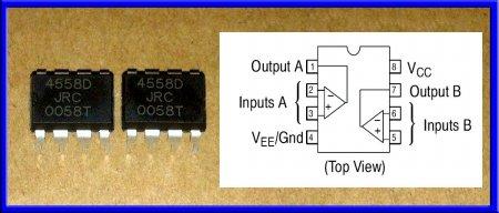 Микросхема JRC4558D-DIP-8
