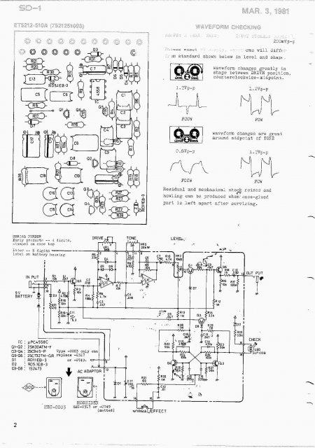 Схема Super Overdrive SD-1