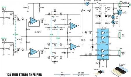 схема усилителя_tda7377&TL074
