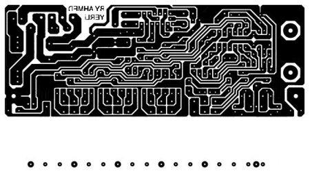 Исходник платы усилителя на TDA7377 PCB