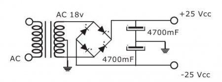 Блок питания усилителя на TDA7294